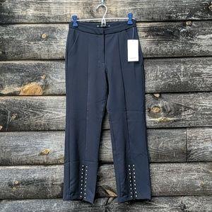 NWT Zara Basic Studded Navy Blue Dress Pants